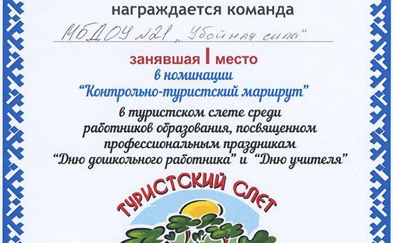 ТУРСЛЕТ (контрольно-туристский маршрут)