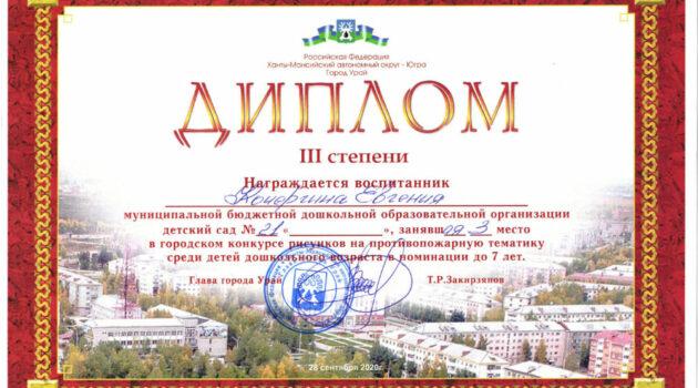 Диплом Кочергина Евгения противопож